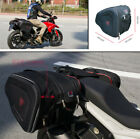 36-58L Universal Motorcycle Black Bags Luggage Saddle Bags + Rain Cover New