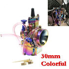 30mm PWK Colorful Aluminum Carburetor Cab For Motorcycle ATV Scooter 150cc 200cc