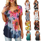 Summer Womens Short Sleeve T Shirt Loose Casual Floral Tank Top Blouse
