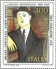 ITALIA ITALY 1984 Amedeo Modigliani Art Painting Painter Stamp MNH