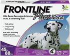 BEST PRICE NEW Frontline Plus for Large DOGS 45 88lbs 3 Doses 3 Months AUTHENTIC