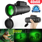 Day Night Vision 40x60 Zoom High Power BAK4 Monocular Telescope Waterproof+Case