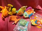 LOT Ty Beanie Babies Goldie Bubbles Coral Lips + McDs