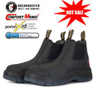 ROCKROOSTER Mens Work Boots Soft Toe Water Resistant Pull On Comfortable Safety