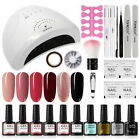 TOMICCA Gel Nail Polish Kit with 48W UV LED Light Nail Lamp with Base Top Coat