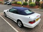 LARGER PHOTOS: Mercedes CLK 230K Convertible * White & Designo Blue * AMG Bodykit * NO RESERVE