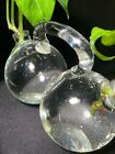 Unique DoubleBubble Glass Beauty Decanter Duo Plant Rooter Sweet Art Glass Gem