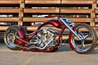 2007 Custom Built Motorcycles Chopper 2007 Bonneville Customs Anarchy Disruptor Candy Apple Red