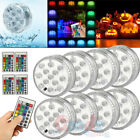 8PC Swimming Pool Light RGB LED Bulb Underwater Color Vase Decor Lights  Remote