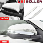 ABS Chrome Car Rearview Side Mirror Decorate Cover Trim For 2014 19 Toyota RAV4