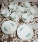 14 Fire King BONNIE BELL BLUE FLOWER Cup and Saucer sets 28 pieces