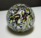 1984 Joe Zimmerman End of Day Swirl Paperweight with Bart Signature