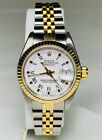 Rolex Oyster Datejust Two Tone 18kt/SS Quickset Roman White Dial Jubilee Watch