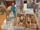 Vintage Marx Johnny West Jane West Chief Cherokee Horses and accessories