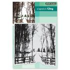 PENNY BLACK RUBBER STAMPS SLAPSTICK CLING SNOW TRAILS NEW cling STAMP