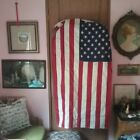 American Flag cotton vintage about 3 X 5 ft Old Glory