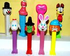 Lot Of 8 PEZ Dispensers Garfield AND SEVEN OTHERS Odie, Elmo,easter bunny