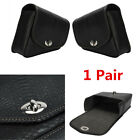 1 Pair Motorcycle Body Side PU Leather Luggage Saddle Bag Tool Bag Universal