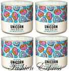 BATH  BODY WORKS UNICORN SPRINKLES 3 WICK SCENTED CANDLE LOT OF 4 PCS