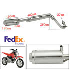 For Dirt Pit Bike 50cc 110cc 125cc Metal 4 Stroke Exhaust Pipe System Muffler US