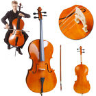 High Quality Cello 4 4 Full Size Natural Color BassWood +Bag+Bow+Rosin+Bridge