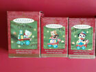 Hallmark 2001 Child's Age Collection 1st 2nd 3rd Christmas Ornaments