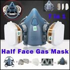 Us 7 In 1 Half Face Mask For 6200 7502 Gas Painting Spray Protection Respirator