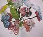Ornate Glass Bead Flower Bouquet French
