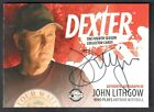 DEXTER SEASON 4 (Breygent 2012) SDCC AUTOGRAPH CARD by JOHN LITHGOW