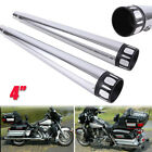 4 Megaphone Exhaust Pipes Muffler Slip On For Harley Road Street Electra Glide
