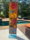 fused glass garden ornament by Shellie hand made indoor outdoor shown as indoor