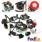 Electrics Wiring Harness CDI + Remote Start Switch For 50cc 125cc ATV Scooter