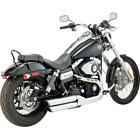 Vance  Hines Twin Slash Slip On Exhausts Chr Harley FXDWG Dyna Wide Glide 10 16