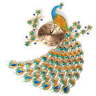 AUG 3D Diamond Peacock Wall Clock Metal Watch Home Living For Room Decora US