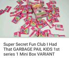 Super Secret Fun Club Garbage Pail Kids Mini Box & Wax Packs 1st Series 1 OS1