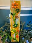 fused glass garden ornament by Shellie hand made indoor outdoor in pot or ground