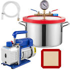 1 1 2 Gallon Vacuum Chamber and 36 CFM Single Stage Pump to Degassing Silicone