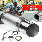Performance Exhaust System Short Carbon Fiber Fits GY6 125 150cc Scooter Silver