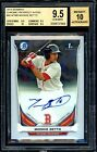 2014 Mookie Betts Bowman Chrome Autograph Auto Rookie RC #MB BGS 9.5 10 Auto