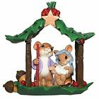 Charming Tails Collection Holy Family Nativity Mice Figure 525 H Resin a