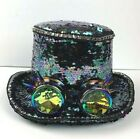 Top Hat Steampunk Black Sequins Halloween Costume with Kaleidoscope Glasses