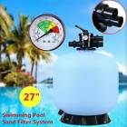 27 inch Diameter Swimming Pool Sand Filter System with 7 Way Valve Above Ground