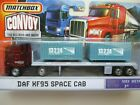 MATCHBOX MBX CONVOY DAF XF95 SPACE CAB SEMI TRACTOR TRUCK CONTAINERS FLATBED