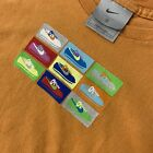 Vintage Nike Cortez t shirt small gray tag made in usa