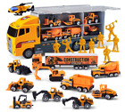 11 in 1 Die cast Construction Truck Vehicle Car Toy Set Play Vehicles Over 3 Yea