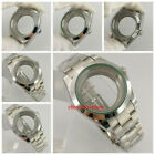 40mm sapphire glass Polished Watch Case Steel Bracelet fit NH35 NH36 Movement
