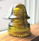GREAT GOLDEN YELLOW AMBER CD 162 HEMINGRAY SIGNAL STYLE GLASS INSULATOR A3