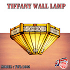 Tiffany Antique wall lamp Lamps Stained Glass Uplighter Handcrafted Light UK