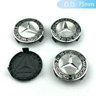 4pcs Wheel Center Caps Hub Cap Badge Emblem Car Rim Caps Fits Mercedes Benz 75mm