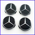 4pcs Car Wheel Center Caps Hub Rim Caps Logo Badge Emblem For Mercedes Benz 75mm